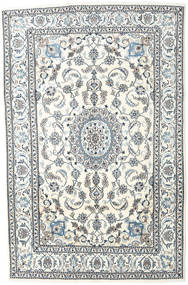 Nain Rug 193X296 Authentic  Oriental Handknotted Beige/Light Grey (Wool, Persia/Iran)