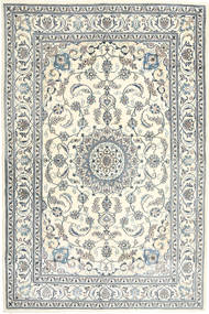 Nain Rug 198X301 Authentic  Oriental Handknotted Beige/Light Grey/Dark Grey (Wool, Persia/Iran)