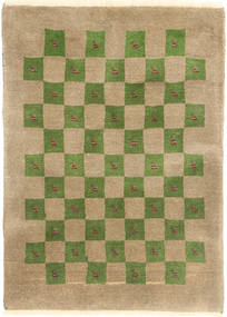 Gabbeh Kashkooli Rug 80X110 Authentic  Modern Handknotted Light Brown/Olive Green (Wool, Persia/Iran)