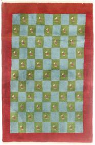 Gabbeh Kashkooli Tappeto 82X125 Moderno Fatto A Mano Rosso Scuro/Verde Oliva (Lana, Persia/Iran)