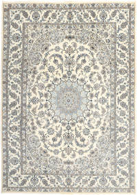 Nain Rug 244X347 Authentic  Oriental Handknotted Beige/Light Grey (Wool, Persia/Iran)