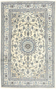 Nain Rug 202X316 Authentic  Oriental Handknotted Beige/Light Grey (Wool, Persia/Iran)