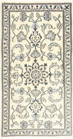 Nain Matta 68X135 Äkta Orientalisk Handknuten Beige/Ljusgrå (Ull, Persien/Iran)