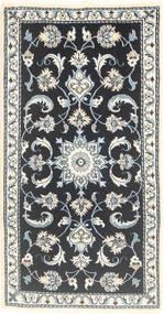 Nain Matta 70X135 Äkta Orientalisk Handknuten Mörkgrå/Ljusgrå (Ull, Persien/Iran)