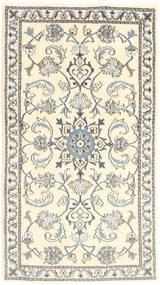 Nain Matta 75X134 Äkta Orientalisk Handknuten Beige/Ljusgrå (Ull, Persien/Iran)