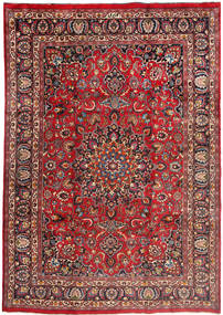Mashad Rug 240X343 Authentic  Oriental Handknotted Dark Red/Dark Brown (Wool, Persia/Iran)