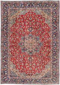 Najafabad Matta 260X370 Äkta Orientalisk Handknuten Mörkröd/Mörkgrå Stor (Ull, Persien/Iran)