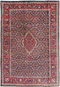 Tabriz Rug 196X288 Authentic  Oriental Handknotted Dark Purple/Light Grey (Wool, Persia/Iran)