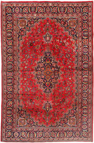 Mashad Rug 190X293 Authentic  Oriental Handknotted Brown/Dark Brown (Wool, Persia/Iran)
