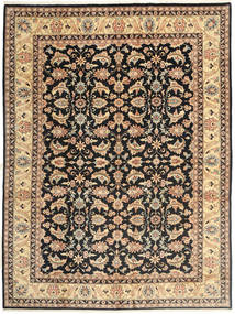 Tabriz Rug 270X363 Authentic  Oriental Handknotted Light Brown/Black Large (Wool, Persia/Iran)