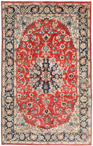 Najafabad Rug 205X330 Authentic  Oriental Handknotted Light Grey/Rust Red (Wool, Persia/Iran)