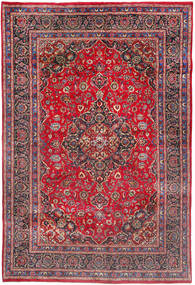 Mashad Rug 200X297 Authentic  Oriental Handknotted Crimson Red/Dark Purple (Wool, Persia/Iran)