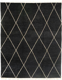Barchi/Moroccan Berber - Pakistan Rug 244X305 Authentic  Modern Handknotted Black (Wool, Pakistan)