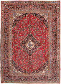 Keshan Rug 300X405 Authentic Oriental Handknotted Brown/Dark Red Large (Wool, Persia/Iran)