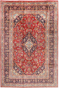 Mashad Rug 197X294 Authentic  Oriental Handknotted Rust Red/Light Brown (Wool, Persia/Iran)