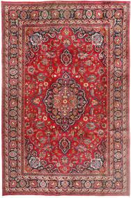 Mashad Rug 198X312 Authentic  Oriental Handknotted Rust Red/Dark Brown (Wool, Persia/Iran)