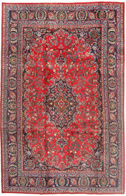 Mashad Rug 187X293 Authentic  Oriental Handknotted Dark Red/Rust Red (Wool, Persia/Iran)