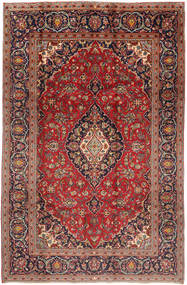 Keshan Rug 197X300 Authentic  Oriental Handknotted Dark Red/Dark Brown (Wool, Persia/Iran)