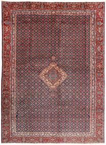 Moud Teppich 285X380 Echter Orientalischer Handgeknüpfter Dunkelbraun/Dunkelrot Großer (Wolle/Seide, Persien/Iran)