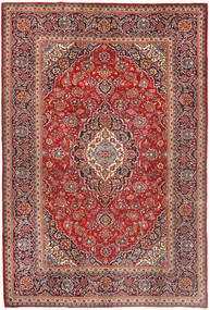 Keshan Rug 200X298 Authentic  Oriental Handknotted Brown/Rust Red (Wool, Persia/Iran)