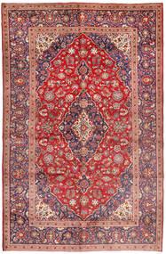 Keshan Vloerkleed 200X317 Echt Oosters Handgeknoopt Donkerrood/Lichtroze (Wol, Perzië/Iran)