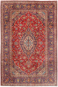 Keshan Rug 197X296 Authentic  Oriental Handknotted Dark Red/Rust Red (Wool, Persia/Iran)