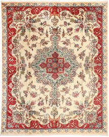 Tabriz Rug 303X388 Authentic  Oriental Handknotted Beige/Yellow Large (Wool, Persia/Iran)
