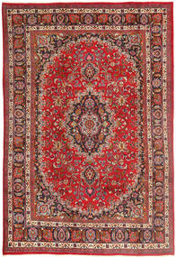 Mashad Rug 193X292 Authentic  Oriental Handknotted Dark Red/Light Brown (Wool, Persia/Iran)