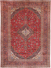 Keshan Rug 285X395 Authentic  Oriental Handknotted Brown/Dark Red Large (Wool, Persia/Iran)