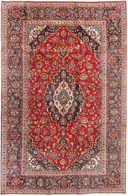 Keshan Matta 196X307 Äkta Orientalisk Handknuten Mörkröd/Roströd (Ull, Persien/Iran)
