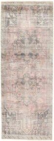 Colored Vintage Rug 95X262 Authentic  Modern Handknotted Hallway Runner  Light Grey/White/Creme (Wool, Persia/Iran)