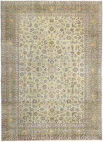 Kashan Patina Covor 293X405 Orientale Lucrat Manual Bej Închis/Gri Deschis Mare (Lână, Persia/Iran)