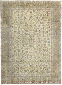 Keshan Patina Rug 293X405 Authentic  Oriental Handknotted Dark Beige/Light Grey Large (Wool, Persia/Iran)