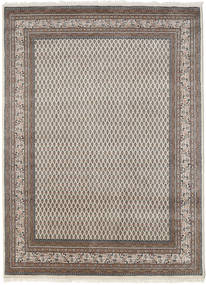 Mir Indo Rug 175X240 Authentic  Oriental Handknotted Light Brown/Dark Grey (Wool, India)
