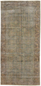 Colored Vintage Rug 139X290 Authentic  Modern Handknotted Hallway Runner  Light Brown/Dark Grey (Wool, Persia/Iran)