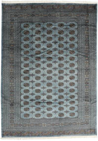 Pakistan Bokhara 2Ply Rug 244X342 Authentic  Oriental Handknotted Dark Grey/Light Grey/Blue (Wool, Pakistan)