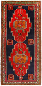 Ardebil Rug 156X327 Authentic  Oriental Handknotted Hallway Runner  Rust Red/Dark Purple (Wool, Persia/Iran)