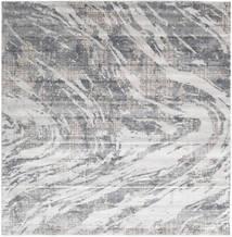 Storm - Grå Matta 250X250 Modern Kvadratisk Ljusgrå/Beige Stor ( Turkiet)