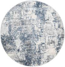 Triad - Grey/Blue Rug Ø 150 Modern Round Light Grey/White/Creme ( Turkey)