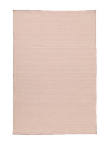 Kilim Loom - Misty Pink Rug 140X200 Authentic  Modern Handwoven Light Pink/Dark Beige (Wool, India)