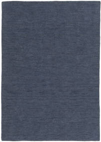 Kilim Loom - Denim Blue Rug 140X200 Authentic  Modern Handwoven Blue/Dark Blue (Wool, India)