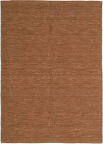 Kilim Loom - Brown Rug 160X230 Authentic  Modern Handwoven Brown (Wool, India)