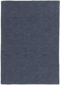 Kelim Loom - Denim Blauw Tapijt 160X230 Echt Modern Handgeweven Blauw/Donkerblauw (Wol, India)