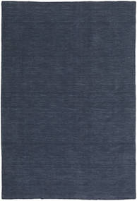 Kilim Loom - Denim Blue Rug 200X300 Authentic  Modern Handwoven Dark Blue/Blue (Wool, India)