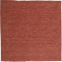 Kilim Loom - Rust Rug 250X250 Authentic  Modern Handwoven Square Dark Red/Brown Large (Wool, India)