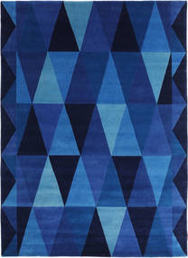 Geometric - Blue Rug 170X240 Authentic  Modern Handknotted Dark Blue/Blue (Wool, India)