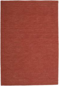 Kelim Loom - Roestkleur Vloerkleed 300X400 Echt Modern Handgeweven Donkerrood Groot (Wol, India)