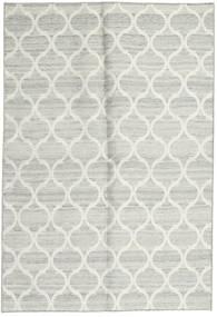 キリム インド 絨毯 122X177 モダン 手織り ベージュ/薄い灰色 (ウール, インド)