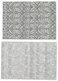 キリム インド 絨毯 60X90 モダン 手織り 薄い灰色/濃いグレー (ウール, インド)