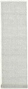 Alva - White/Black Rug 80X350 Authentic  Modern Handwoven Hallway Runner  Light Grey/Beige (Wool, India)